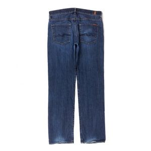 7 FOR ALL MANKIND CARSEN JEANS Straight Leg Blue